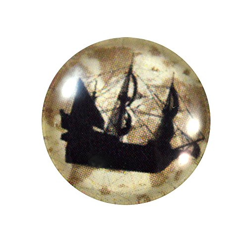 16mm Old Ship Cabochon Glass Flatback Circle Cab Circle Jewelry Making Supply Domed Round Finding (Victorian Cobalt Glass)