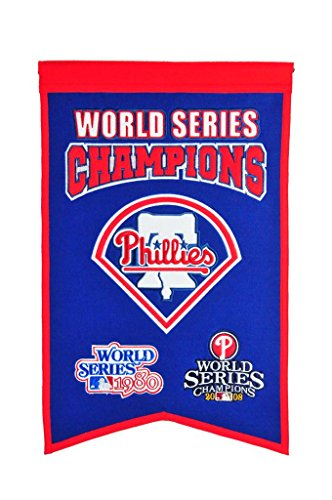Winning Streak MLB Philadelphia Phillies WS Champions Banner, One ()