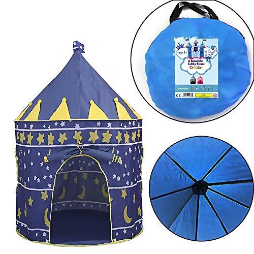 Portable Folding Princess Play Tent Children Kids Castle Cubby Play House