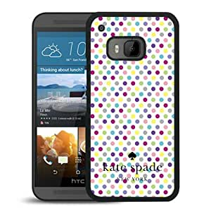 Beautiful DIY Designed Kate Spade Cover Case For HTC ONE M9 Black Phone Case 148