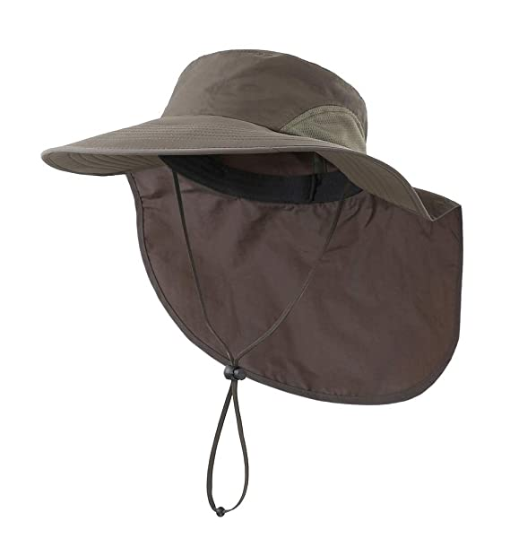 b0d8b0d01deed Home Prefer Outdoor UPF50+ Sun Hat Wide Brim Mesh Fishing Hat with Neck Flap