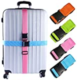 Darller 4 PCS Luggage Straps Suitcase Belts Travel Accessories Bag Straps, Multicolored, One
