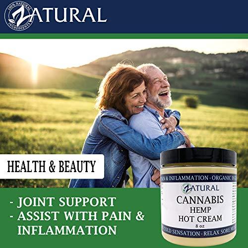 Hemp Hot Cream-Hemp Oil-Organic Hot Cream-Anti Cellulite-Muscle Cream-Pain Support