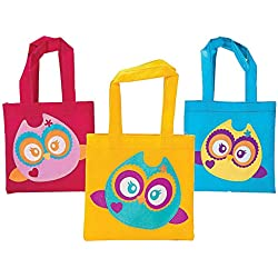 Owl Party Favor Tote Bags - 12 ct