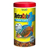Tetra 77248 TetraColor PLUS Tropical Flakes, .42-Ounce, 85 ml