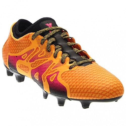 d5a18bf0f983c adidas Men s X 15+ Primeknit FG AG Gold Shock Pink Black Sneaker 8.5 D (M)