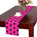 Jnseff Polka Dots Abstract Color Colorful Table Runner, Kitchen Dining Table Runner 16 X 72 Inch For Dinner Parties, Events, Decor