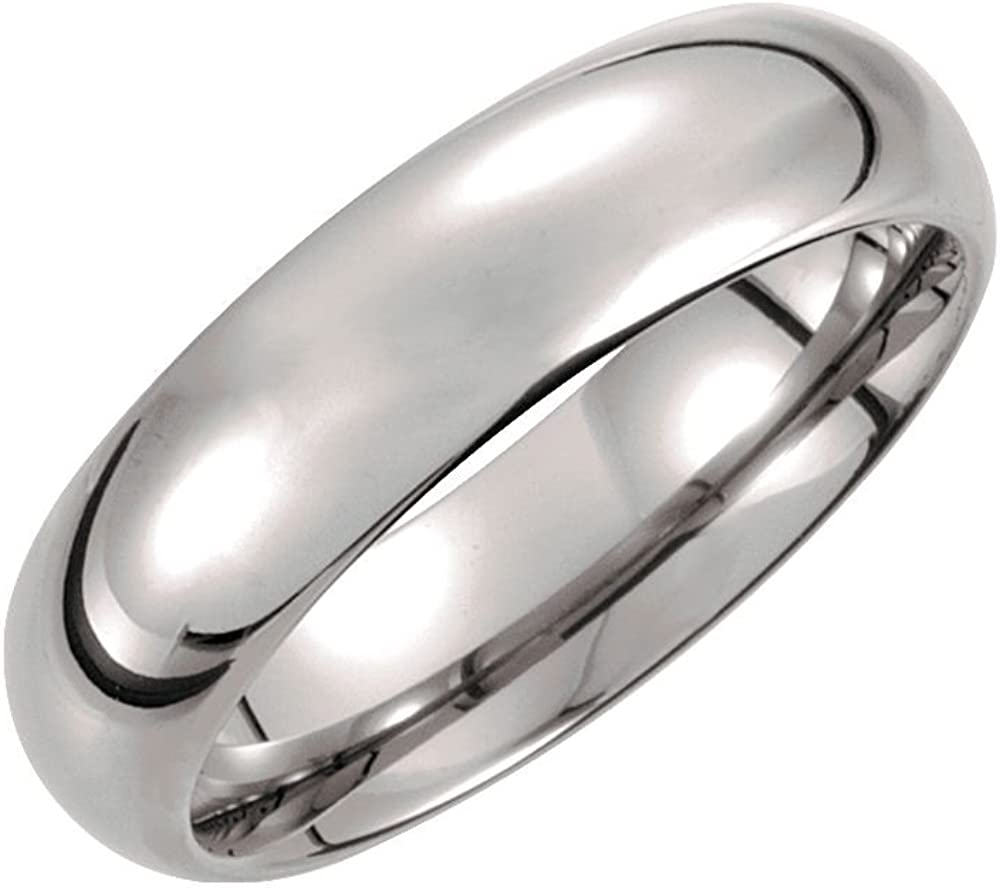Jewels By Lux Tungsten 6mm Domed Wedding Ring Band