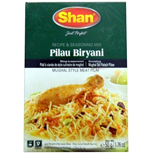 Shan Biryani Special Pack Masala Seasoning 1.75oz., 50g (6-Pack) Biryani Masala, Bombay Biryani, Sindhi Biryani, Fish Biryani, Mutton Biryani & Yakhni Pilau Free Recipe Included Exclusive From AllRegionWorld