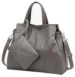 ilishop Stylish 2 Pcs Tote Bag (Grey)