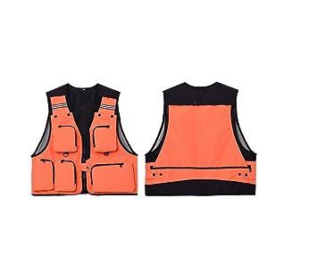 ADream Ligero Hombre Multi Bolsillos Chaleco de Pesca Práctico Chaleco Chaqueta Abrigo (XXL): Amazon.es: Deportes y aire libre