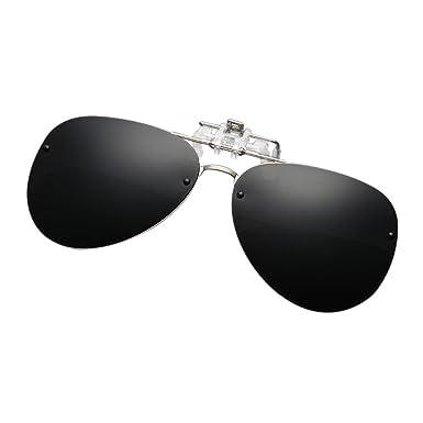 2b883c5d18d Deylaying Unisex Men Women Metal Aviator Fishing Golf Rivets Sunglasses  Flip Up Myopia Night Vision Glasses Clip-On Mirror Polarizing UV400   Amazon.co.uk  ...