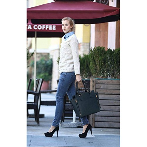 Great Shoulder Handbags LeahWard Nice 314 Tote Zipper Bags Navy Women's B 314A 502 wFIFaTYq