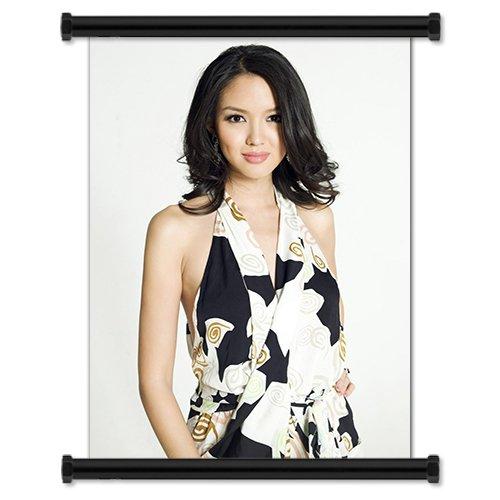 Zhang Zilin Sexy Hot Fashion Model Fabric Wall Scroll Poster (16