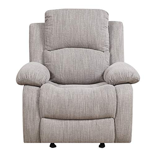 Green Rocker Recliner - Henson Reclining Glider in Mineral with Glide And Recline Motion, by Artum Hill
