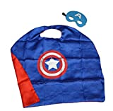 ROXX Superhero Superman Kids Girl And Boy Cape and Mask Costume for Child