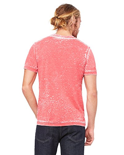 Bella + Canvas Unisex Poly-Cotton Short-Sleeve T-Shirt - RED ACID WASH - XL - (Style # 3650 - Original (Acid Wash Tee)