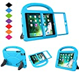 LTROP Kids Case for Apple iPad mini 1/2/3, Portable Shockproof Handle Light Weight Stand Cover with Built in Screen Protector for iPad Mini, iPad Mini 3rd Generation, iPad Mini 2nd Generation - Blue