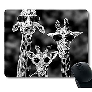 Funy Giraffe Wearing Sunglasses Unique Design Personality Mouse Pad