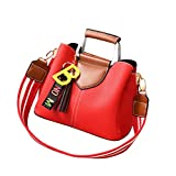 SanCanSn Women Tassels Crossbody Bag Shoulder Bag Messenger Bag Fashion Handbag (1PC, Wine)
