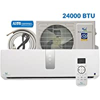 24000 Btu (1.8 Ton) 17.6 SEER Inverter Ductless System - Mini Split Air Conditioner, Heat Pump, Heating, Cooling, Dehumidification, Ventilation. Comes with 15 Feet Installation Kit. 208~230 VAC