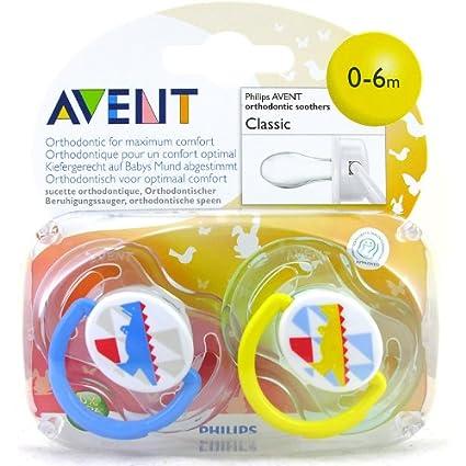 Avent Chupetes de silicona, edades entre 0 y 6 meses, con diseño de ...