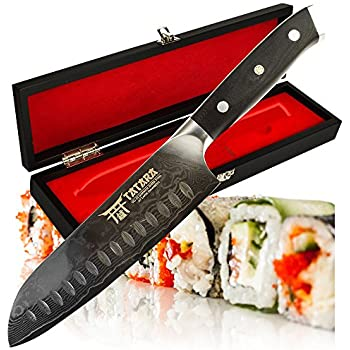 Amazon Com Kessaku Santoku Knife Samurai Series