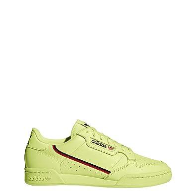 best website c5e4b 8c452 adidas Continental 80 Mens in Semi Frozen YellowScarletNavy, 7.5