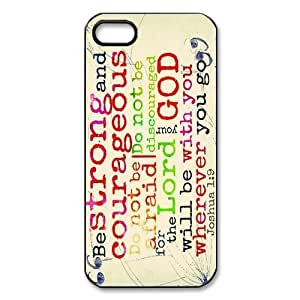 Customized iPhone Case Chapters and Verses of the Bible Printed Durable Hard iPhone 5 5S Case Cover