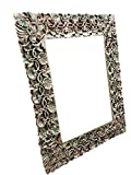 Antique miror Frame Hand Carved and Hand painted , Cherry Leaf Clusters, wall hanging Frame
