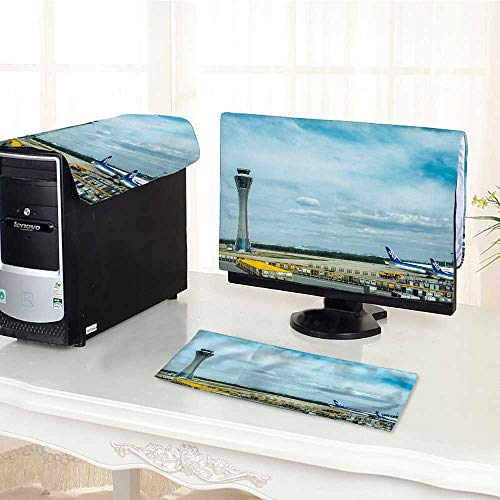 UHOO2018 Computer dust Cover Air Traffic Control Tower and Aiport dust Cover 3 Pieces Set /21