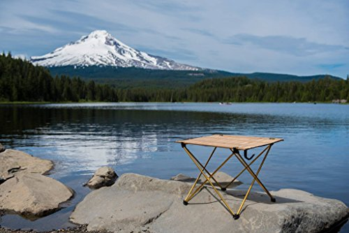 Trekology Compact Portable Camping Table U2013 Folding Table In A Bag For  Beach, Picnic,