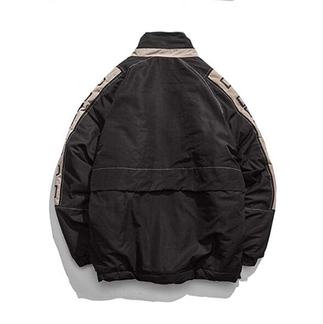XiaoTianXinMen XTX Men Cotton-Padded Winter Printed Hip-Hop Jacket Loose Parkas Coat