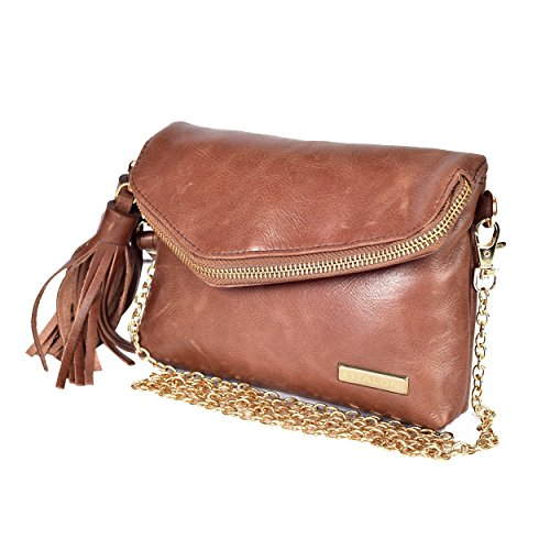 Leather Crossbody Bags for Women - Handmade Cross Body Bag Over the Shoulder Purses Womens Handbag by Estalon (Tan Waxy)