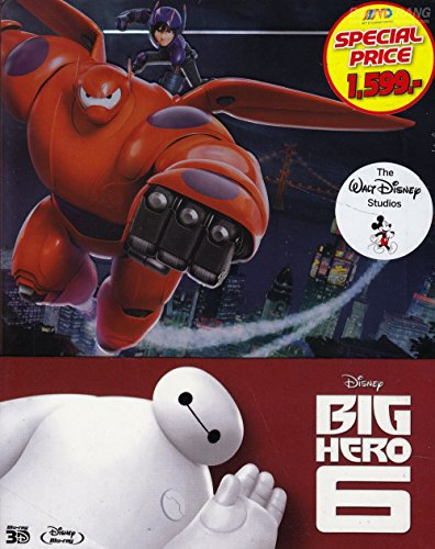 Big Hero 6 (Steelbook) (Blu-ray 3D, Region A) Cartoon Animation Kid family Disney (Ray Big Dvd Hero Blu Six)