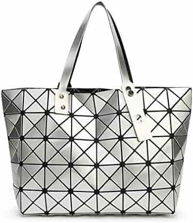 77b50a3da539 Folding Handbag Fashion Casual Tote Women Geometry Top-Handle Bag Female  Shoulder Bags Diamond Lattice