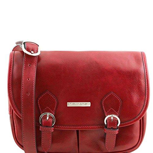 Tuscany Leather - Giulia - Sac bandoulière en cuir avec rabat - Rouge