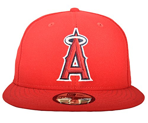 New Era 59FIFTY Los Angeles Angels of Anaheim MLB 2017 Authentic Collection On Field Game Cap Size 7 (Mlb New Era Fitted Hat)