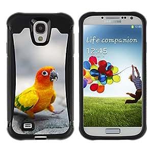 LASTONE PHONE CASE / Suave Silicona Caso Carcasa de Caucho Funda para Samsung Galaxy S4 I9500 / Happy Parrot