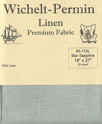- Wichelt-Permin Premium Linen Fabric for Cross Stitch Star Sapphire 32ct 18