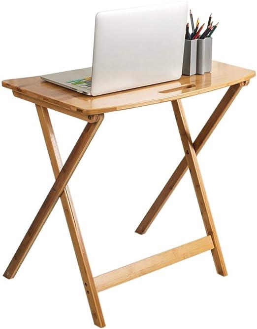 ZHAS Mesa Plegable y Mesa de bambú para computadora portátil ...
