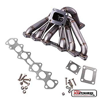 Single Turbo colector calendario 40 T4 50 mm WG - Toyota Supra Mk4 JZA80 2jz-gte TT: Amazon.es: Coche y moto