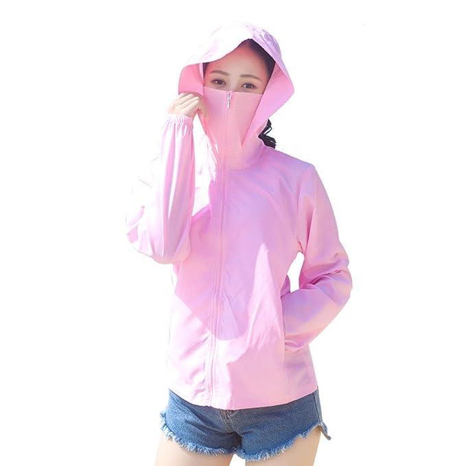 YongBe Chaqueta con Capucha para Mujer Ropa De Protección ...