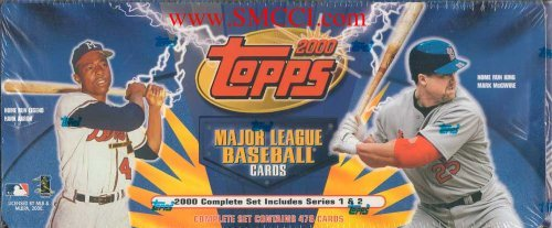 2000 Topps Baseball Factory Sealed Set Which Includes All of the Basic 478 Cards From Series #1 and #2. Loaded with Your Favorite Stars Including McGwire, Gwynn, Ripken, Jeter, Hank Aaron, Sosa, Thomas, Rodriguez, Clemens, Chipper, Griffey, Maddux, Nomar, Bonds, Vladimir and Many Others! ()