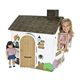 Emily Rose Doll Clothes Incredible Colorful Dollhouse or Kid's Play House With Functioning Door, Window and Roof Hatch! (Farm House)