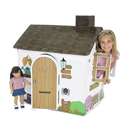 - Emily Rose Doll Clothes Incredible Colorful Dollhouse or Kid's Play House With Functioning Door, Window and Roof Hatch! (Farm House)