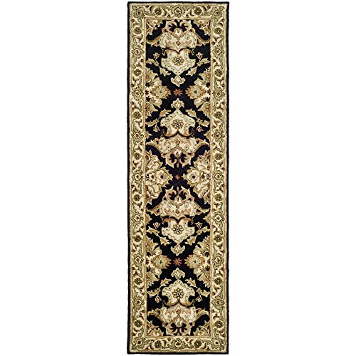 Safavieh Heritage Collection HG817A Handcrafted Traditional Oriental Black and Ivory Wool Runner (2'3