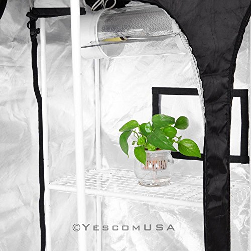 51p4yB8uISL - 2-in-1 100% Reflective Mylar Hydroponics Indoor Grow Tent Propagation and Flower