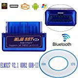 ELM327 V2.1 Interface Mini Bluetooth OBDII OBD2 Diagnostic Auto Car Scanner Vehicle Scanning Tool Android Supported Elm 327 Code Reader