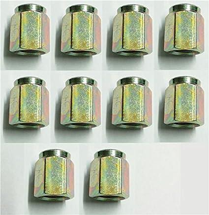 8 x Female Brake Pipe Union Nuts Metric Steel Pipe Tubing 10 x 1.0mm Joiner